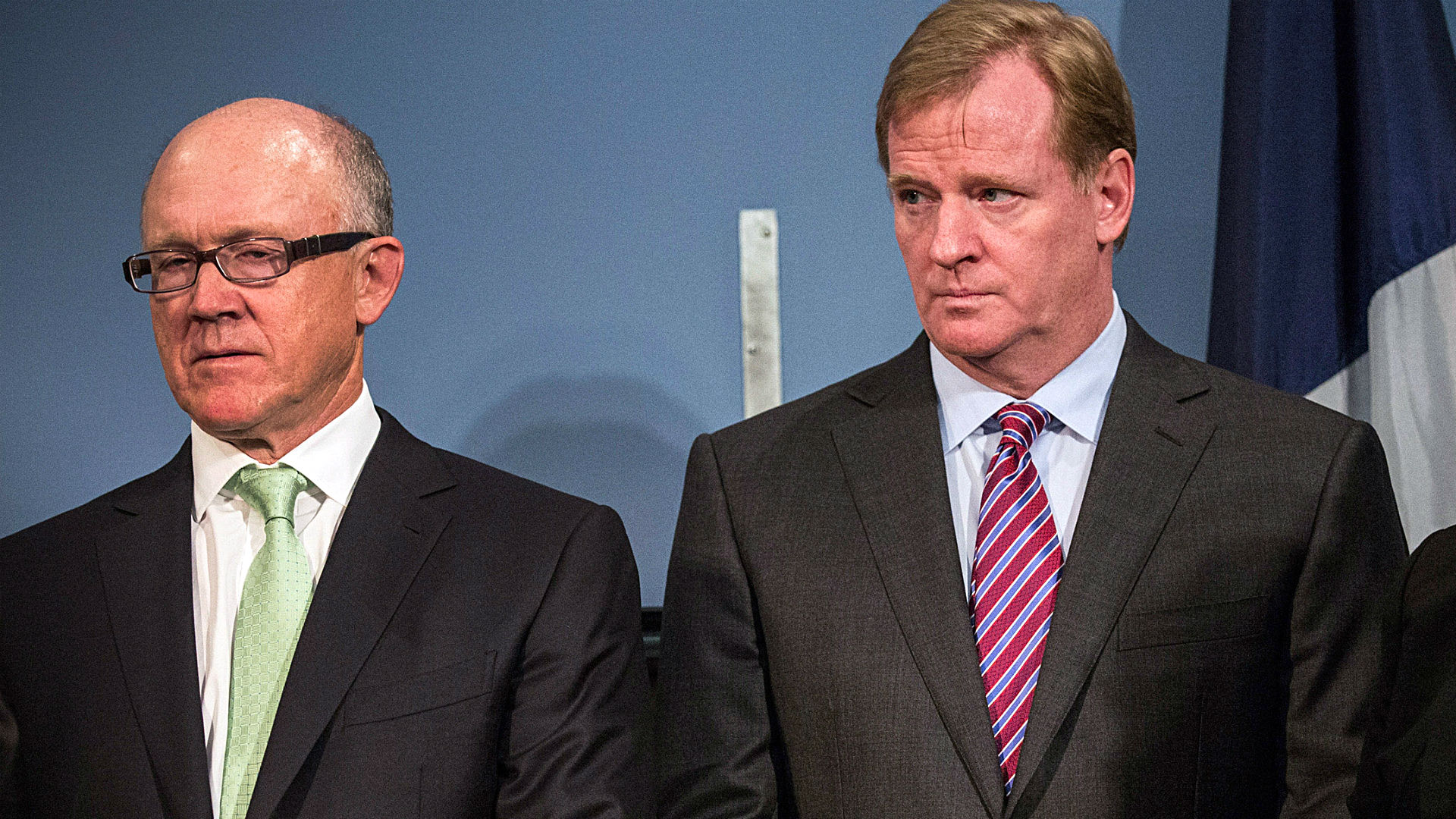 Woody Johnson and Roger Goodell