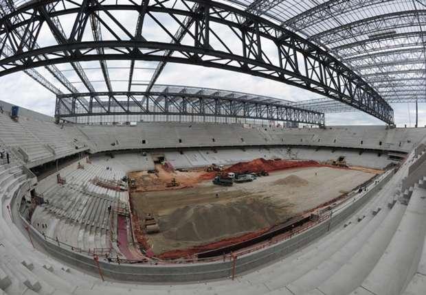 Die Arena in Curitiba macht Fortschritte