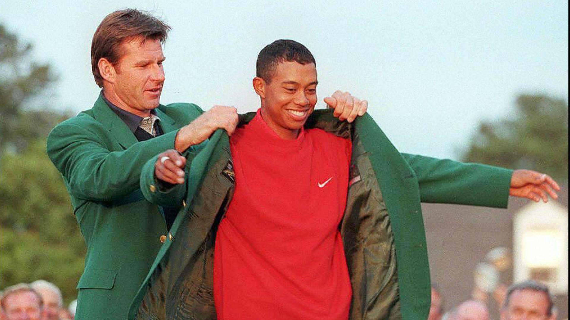 Nick Faldo Tiger Woods - cropped