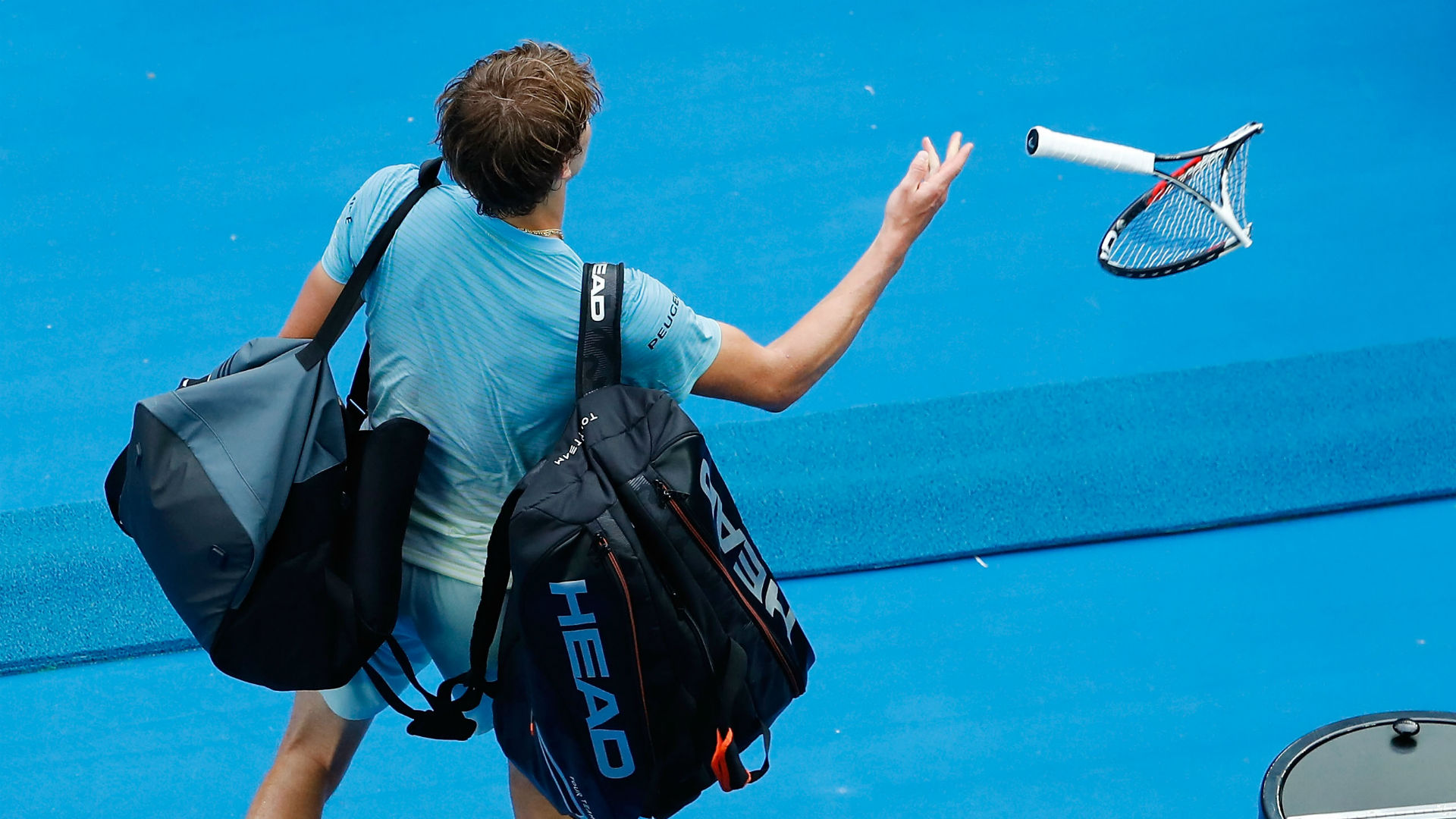 Roger Federer explains ARGUMENT with umpire during Australian Open win