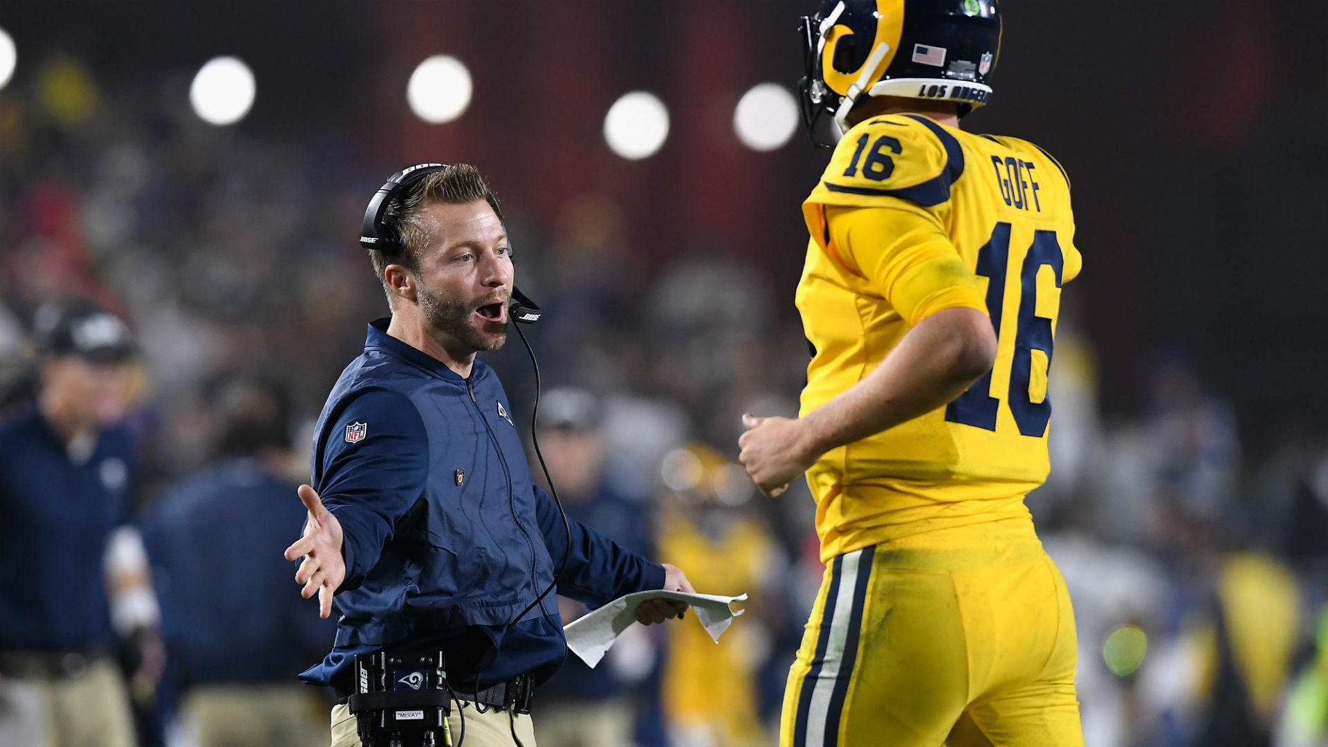 Watch: Rams meet with shooting victims' families after epic win