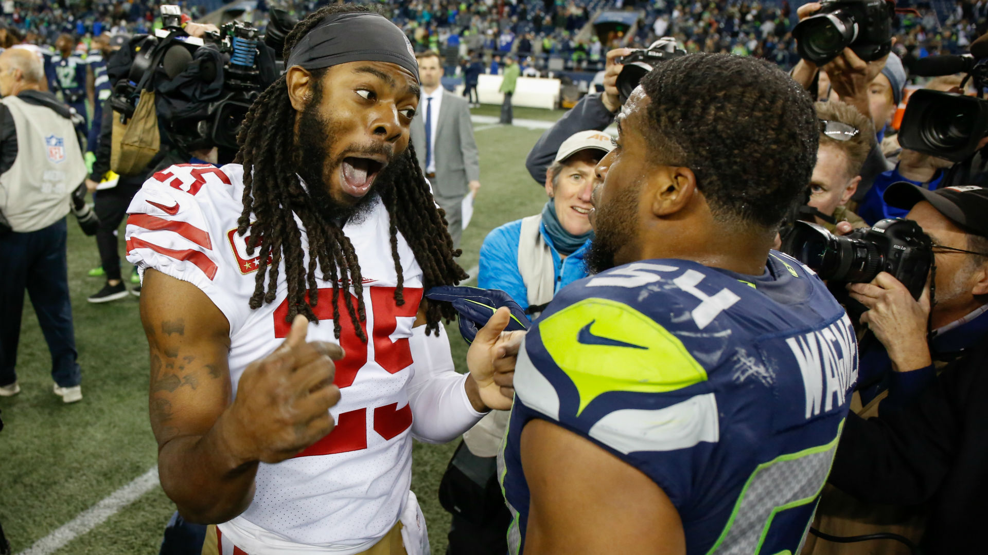 Richard Sherman unfazed by Seahawks' comments: 'Kids say the darndest things'