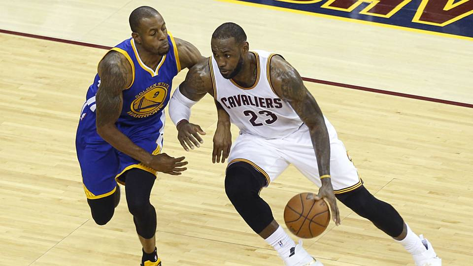 Andre Iguodala and LeBron James