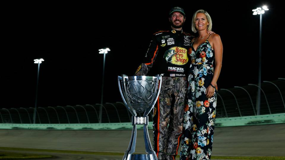 Martin Truex Jr. (Left) and Sherry Pollex (Right)