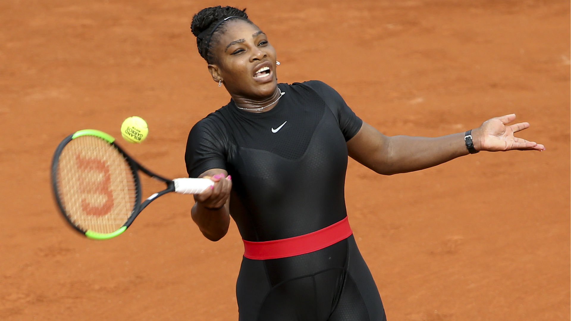 Serena Williams rock black 'catsuit' at French Open