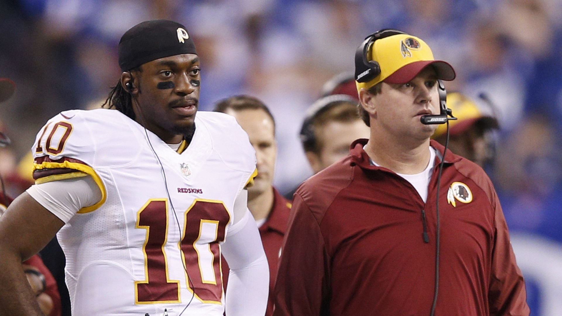 Jay Gruden and Robert Griffin III us