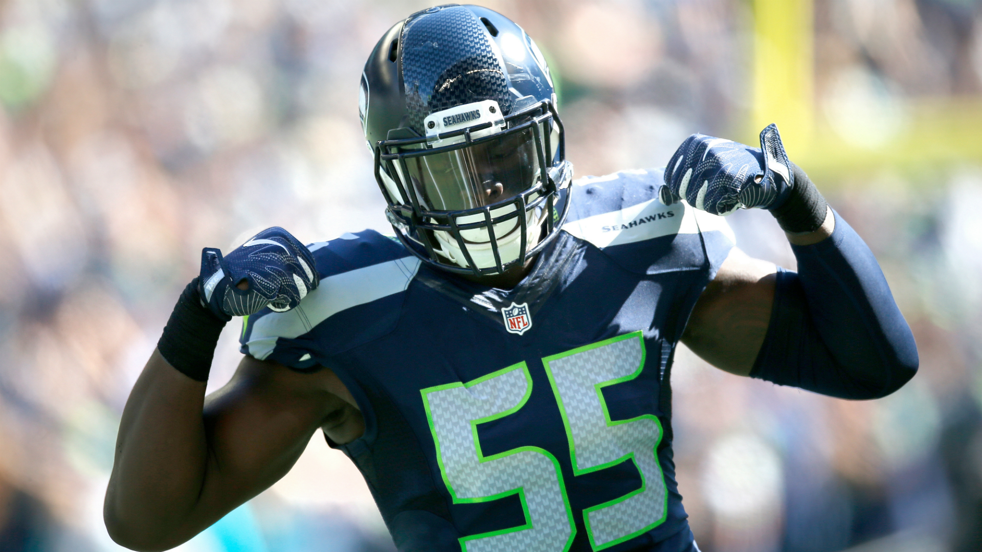 Seahawks Frank Clark insults reporter over domestic violence