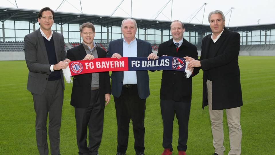 Bayern Munich and FC Dallas partnership
