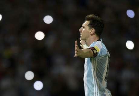 Messi happy to reach goal milestone
