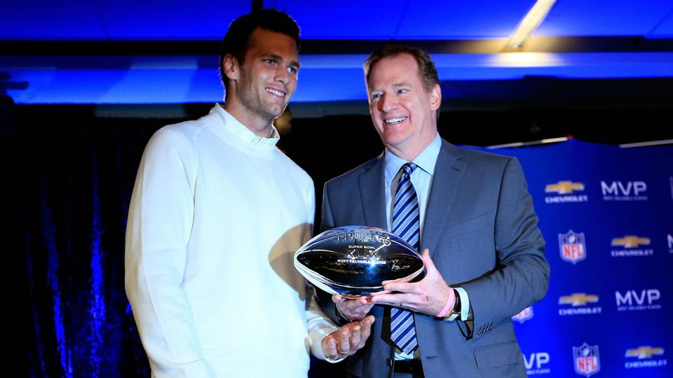 Tom Brady, Roger Goodell in happier times