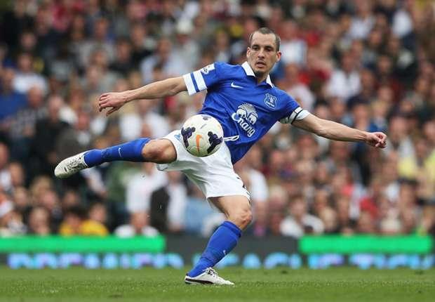 Everton midfielder Leon Osman