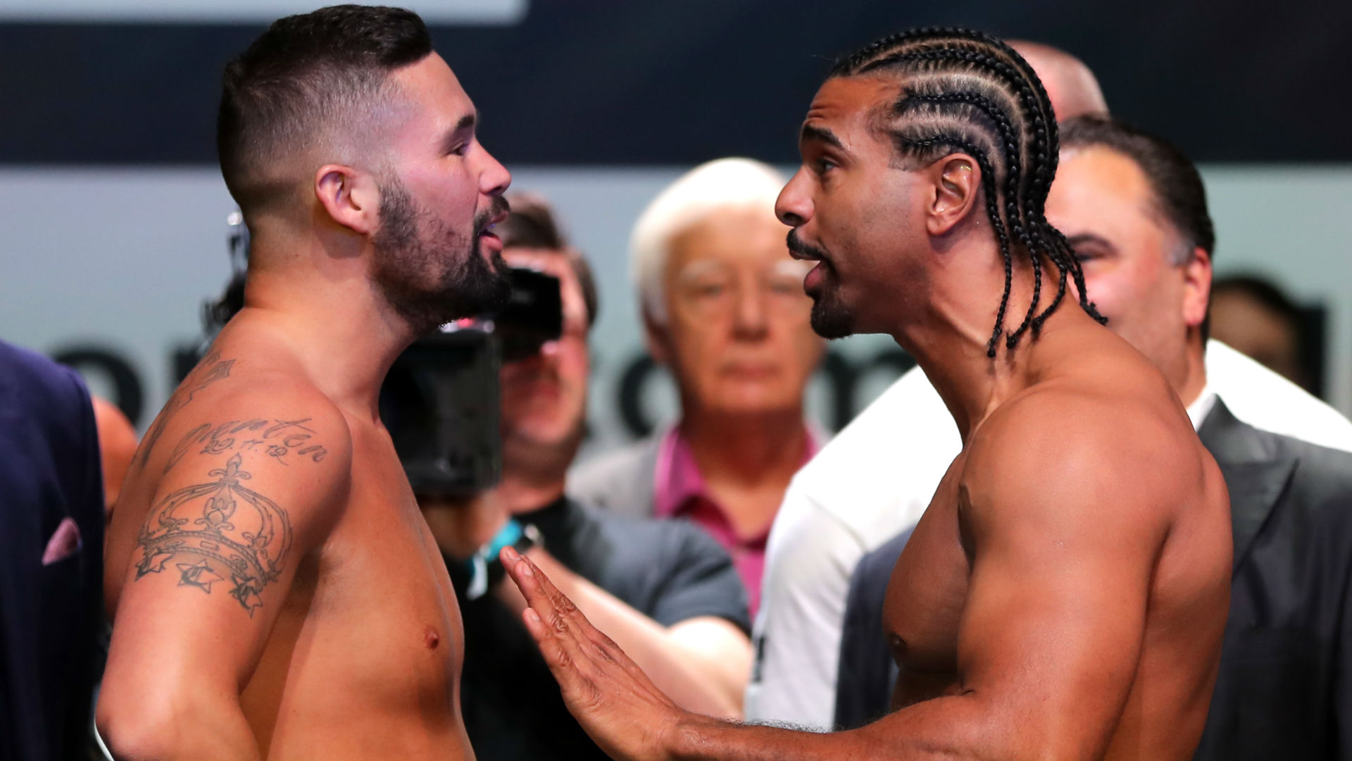 When and what time is the weigh-in for Bellew vs Haye?