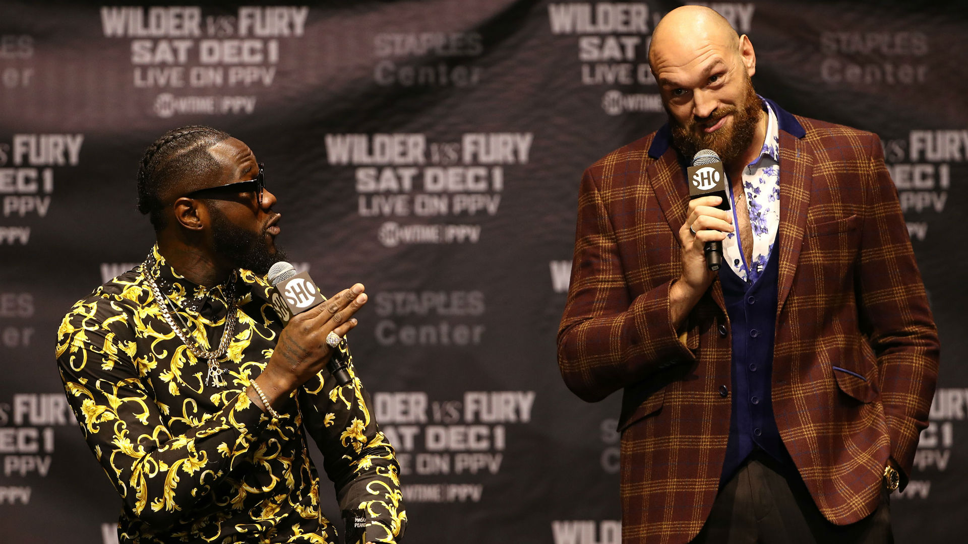 Watch Tyson Fury weigh in for WBC title fight with Deontay Wilder