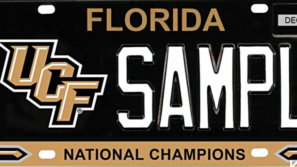 Florida lawmakers pushing for UCF \'National Champions\' specialty ...