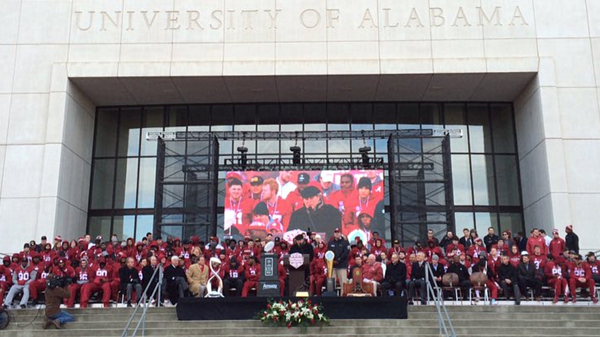 Alabama celebrates national championship