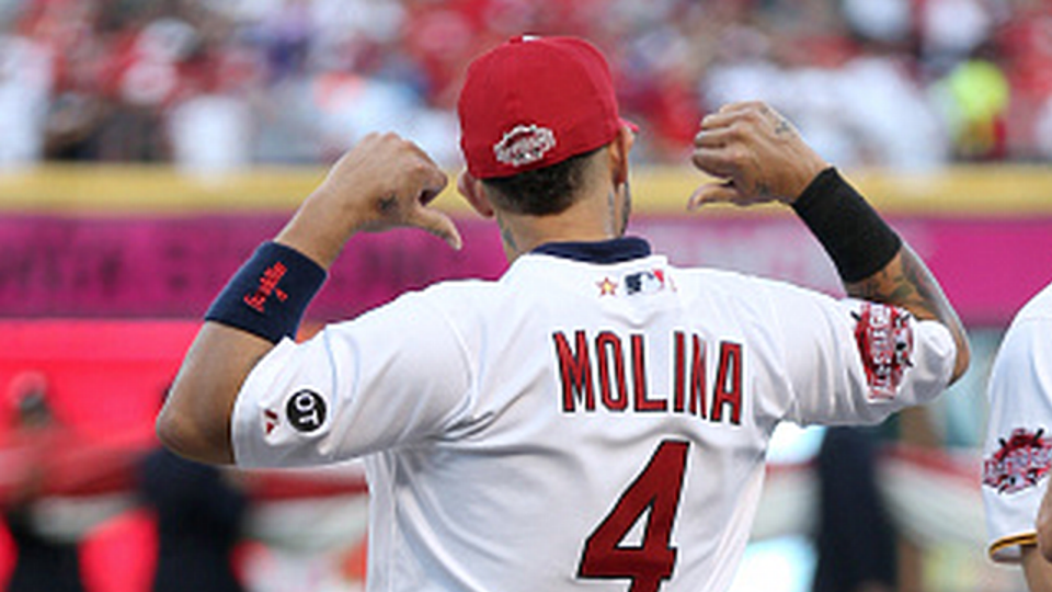 Cardinals catcher Yadier Molina