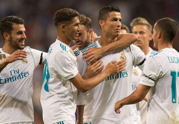 Cristiano Ronaldo celebrates a goal against Fiorentina