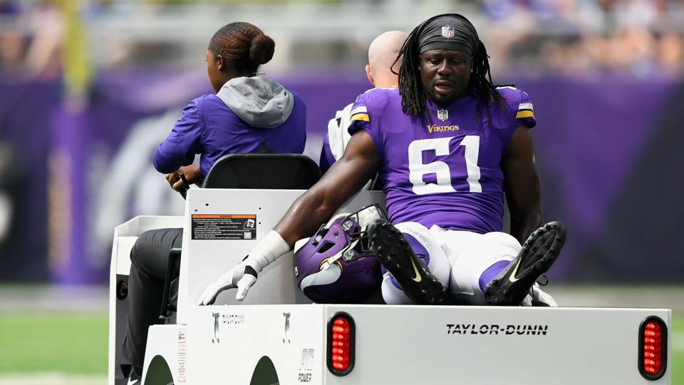 Image result for six Vikings injured in the game