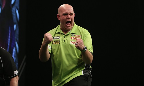 Michael van Gerwen - Betway Premier League, Leeds (Lawrence Lustig, PDC)