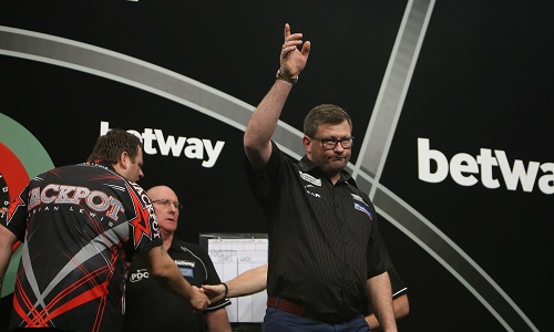 James Wade - Betway Premier League, Leeds (Lawrence Lustig, PDC)