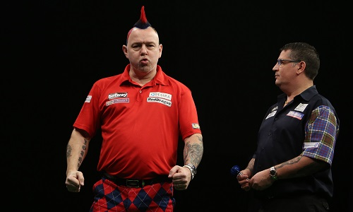 Peter Wright - Betway Premier League, Leeds (Lawrence Lustig, PDC)