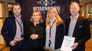 Asgeir F. Johansen, produktsjef Trønderenergi; Tove Moe Dyrhaug, daglig leder RBK; Eli Flakne, markedssjef Trønderenergi; Bjørn Kottum, salg- og partneransvarlig RBK