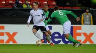 Mike Jensen mot Saint-Etienne