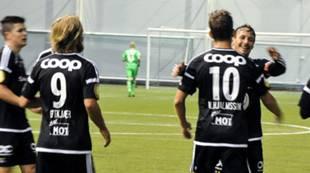 Matthias Vilhjalmsson har scoret mot Byåsen i Abrahallen