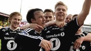 Alexander Søderlund jubler, Lillestrøm - RBK