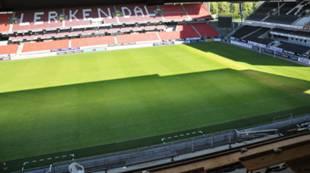 Lerkendal stadion matta fra presseboks