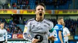 Mike Jensen etter skåring i Molde, sikrer seriegullet 2016