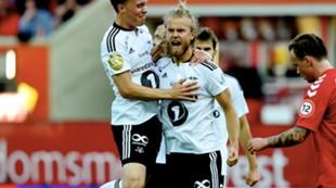 Christian Gytkjær jubler etter scoring mot Brann i Bergen