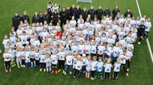 Fotballskole gruppebilde Sparebank1