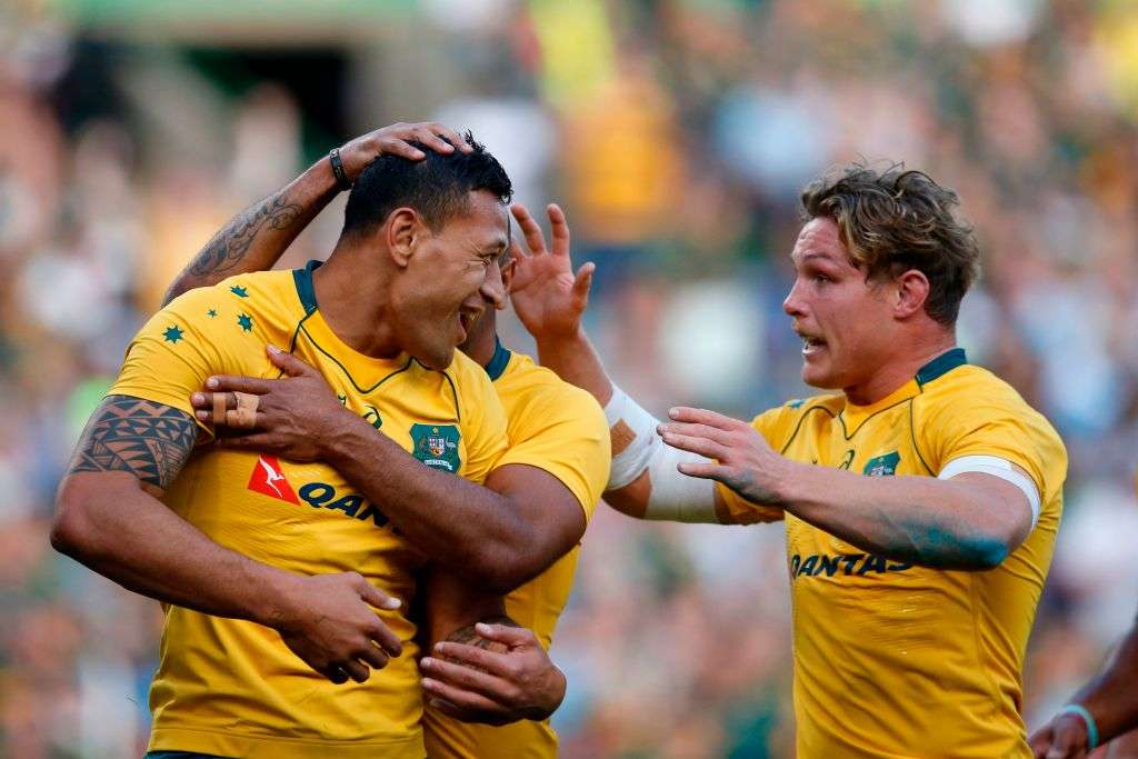 Cheika defends Folau over Leyds hair pull