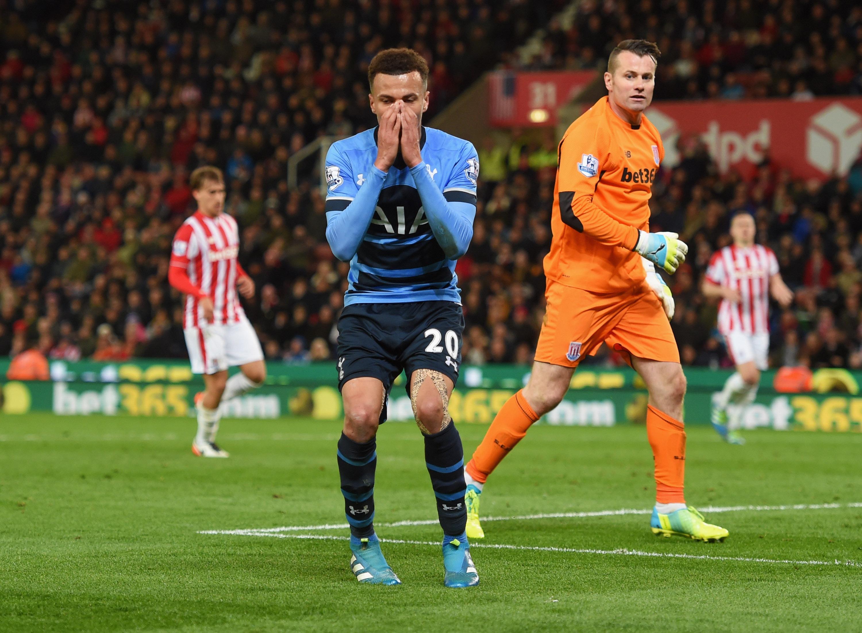 Video dele alli s shocking open goal miss sporting news nfl