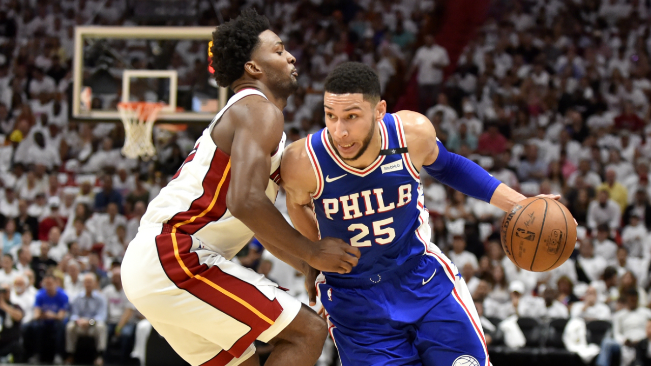 76ers' Ben Simmons has triple-double vs. Heat; Pelicans advance