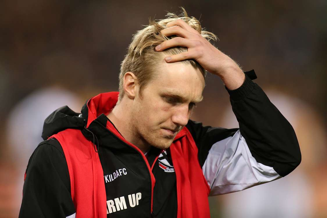 St Kilda youngster Hugh Goddard collapses at training