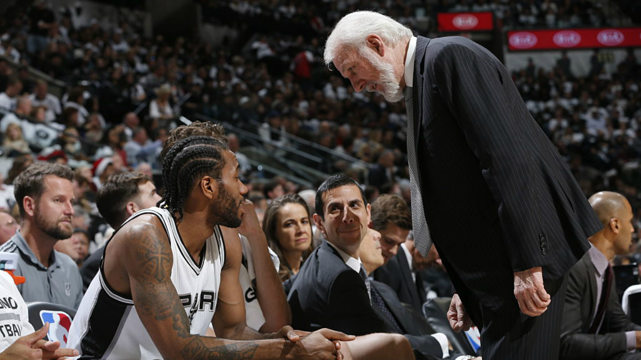 Gregg Popovich: 'I'll Be Surprised' If Kawhi Leonard Returns This Season