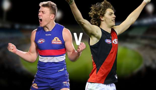 AFL. Bulldogs vs Bombers