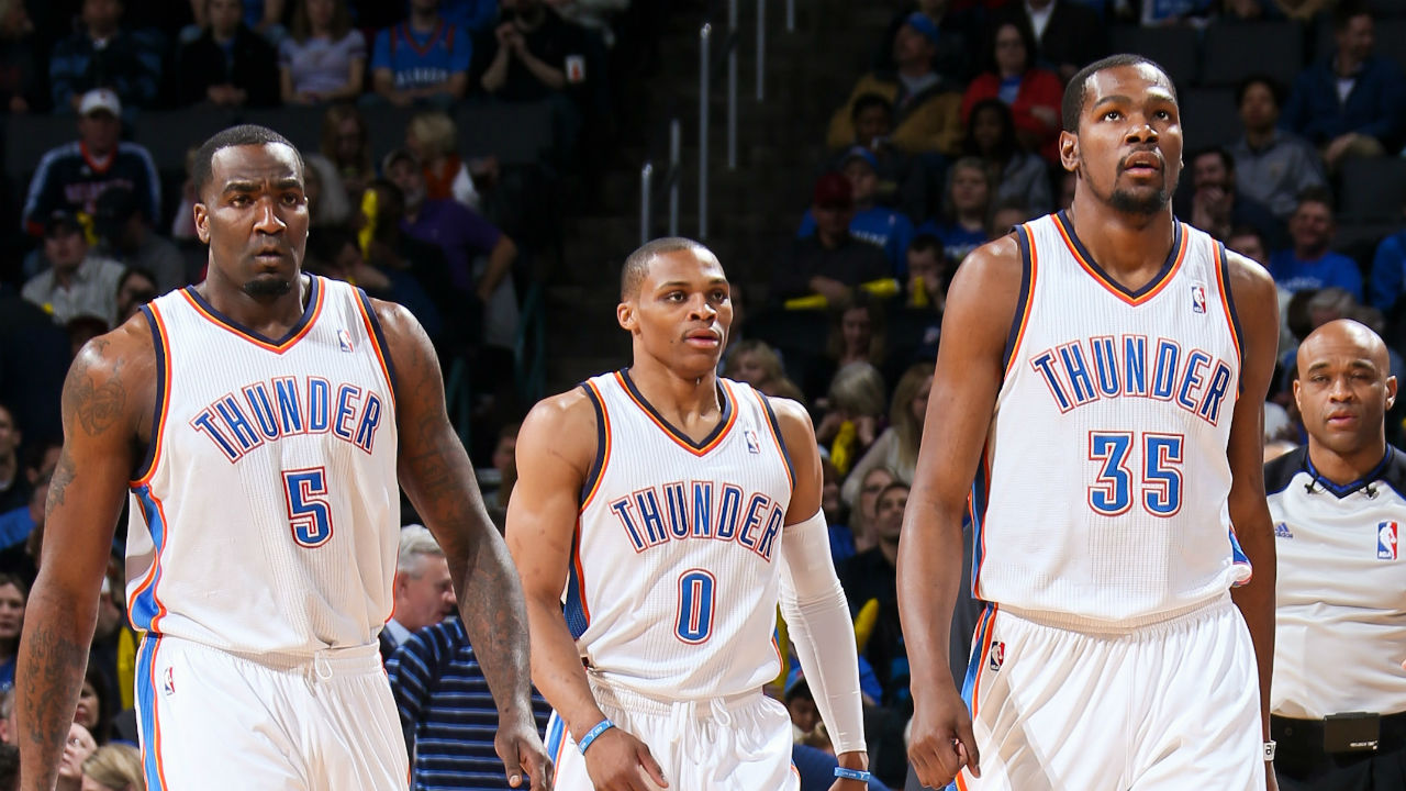 Kendrick Perkins says Russell Westbrook and Kevin Durant 'back on talking terms'