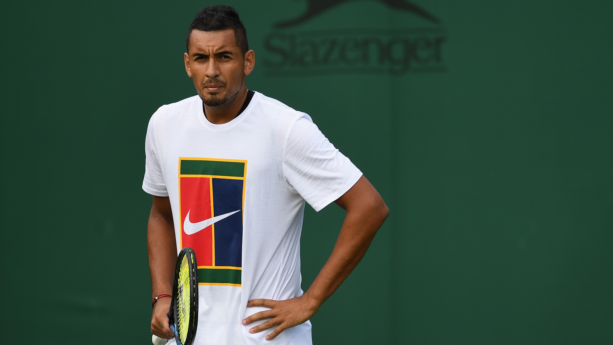 Young tennis stars partying with Kyrgios