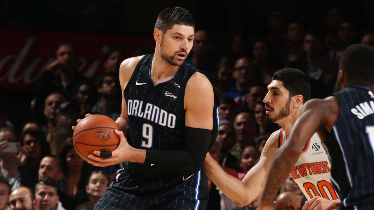 Vucevic's 34-point night leads Magic past short-handed Knicks