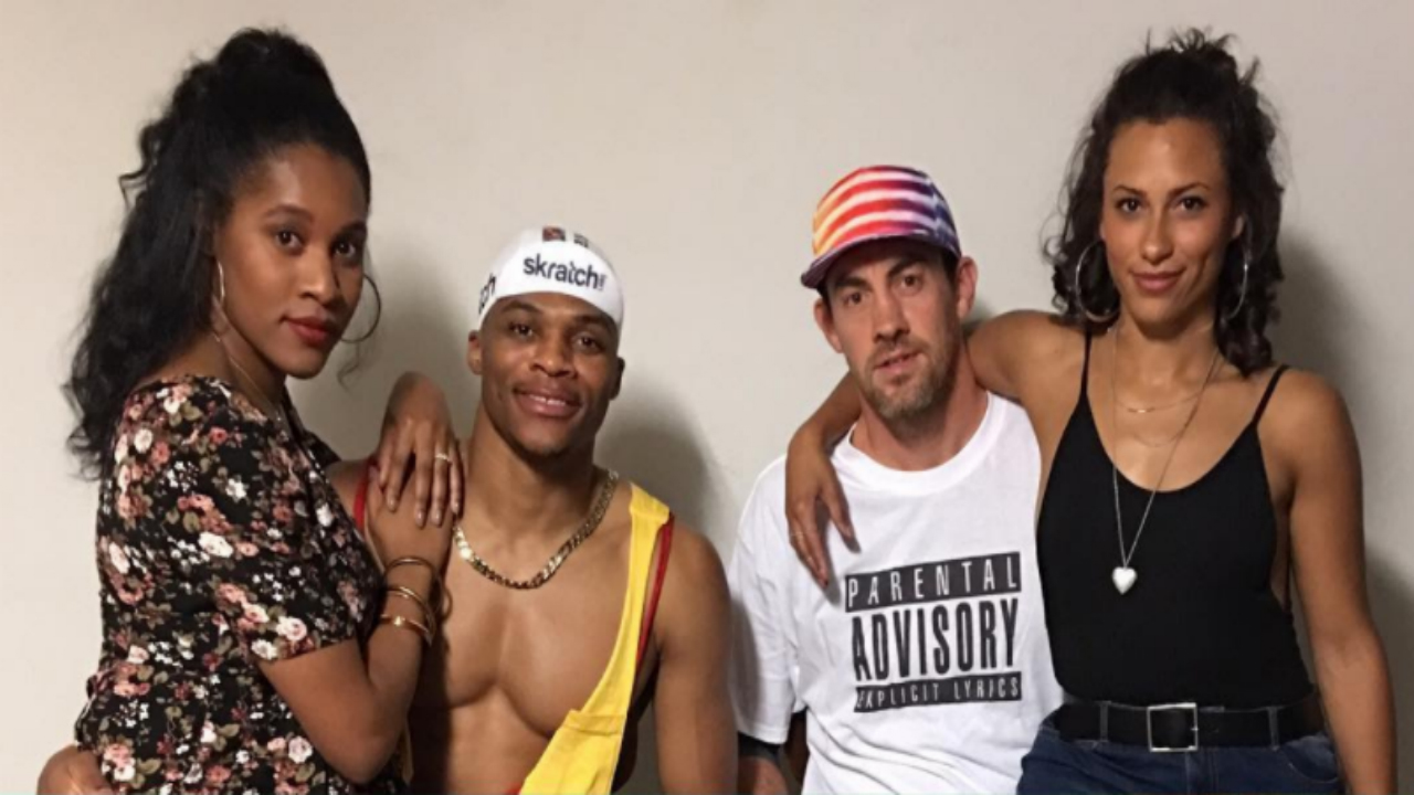 LOOK: Westbrook and Collison's hilarious 'White Men Can't Jump' halloween costumes