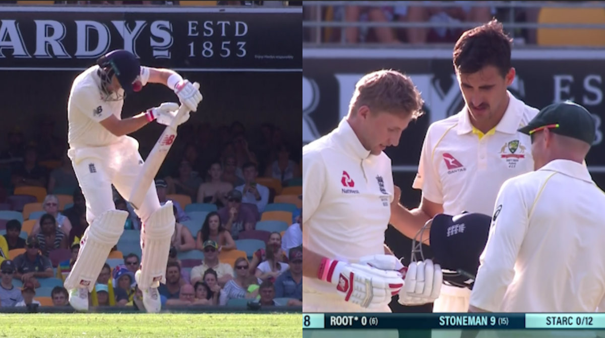 Mitchell Starc breaks Joe Root's helmet with vicious bouncer