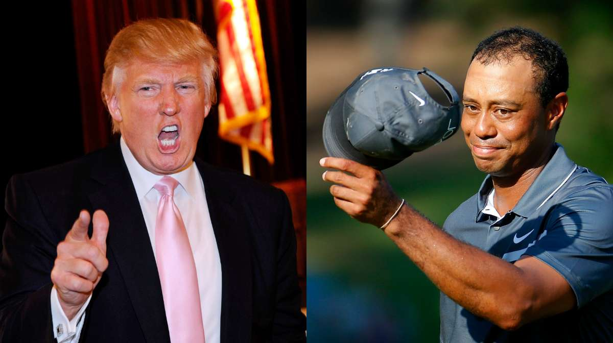 Donald Trump and Tiger Woods meet on the golf course