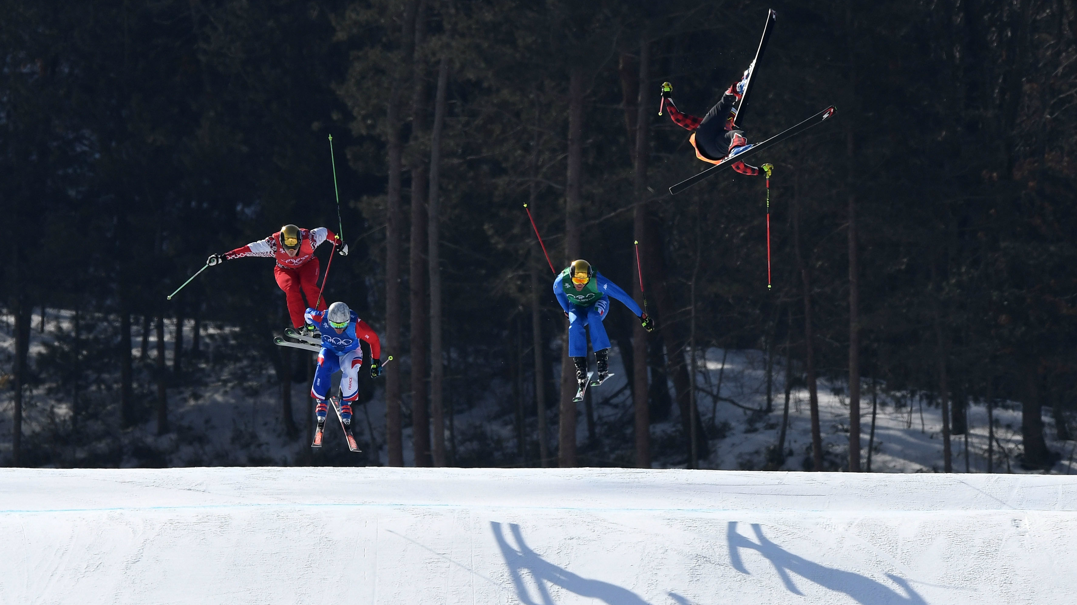 Olympic skier breaks pelvis in horrifying 100-foot fall
