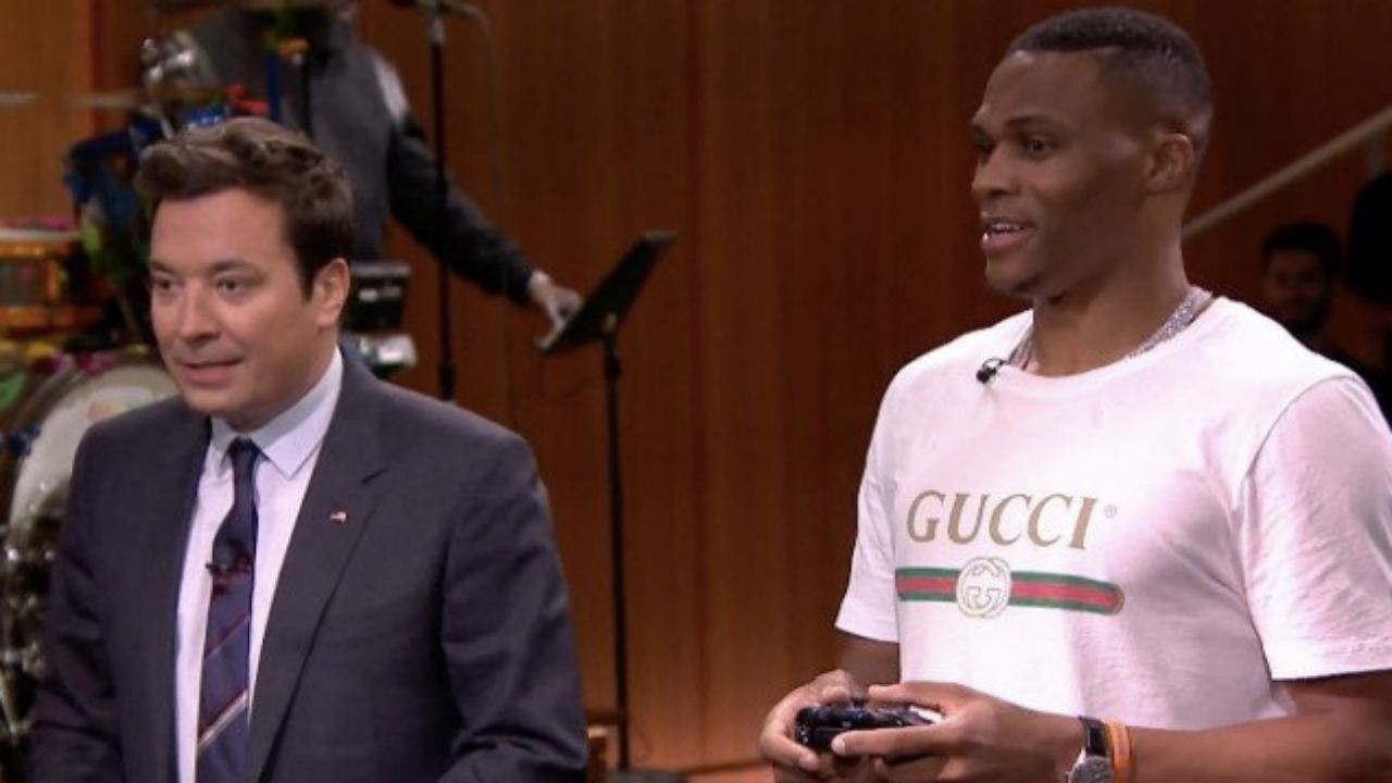 Russell Westbrook Plays NBA Jam Against Jimmy Fallon