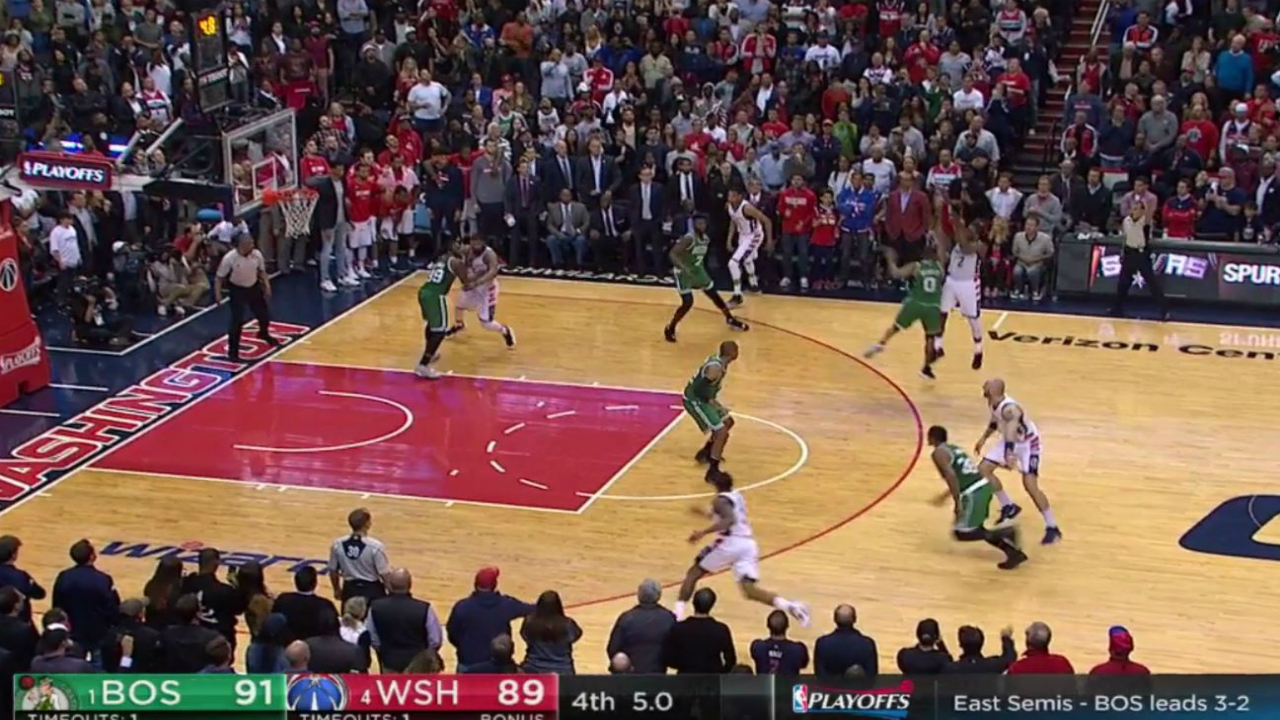 Did Celtics lose a second before final shot? Sure looks like it.