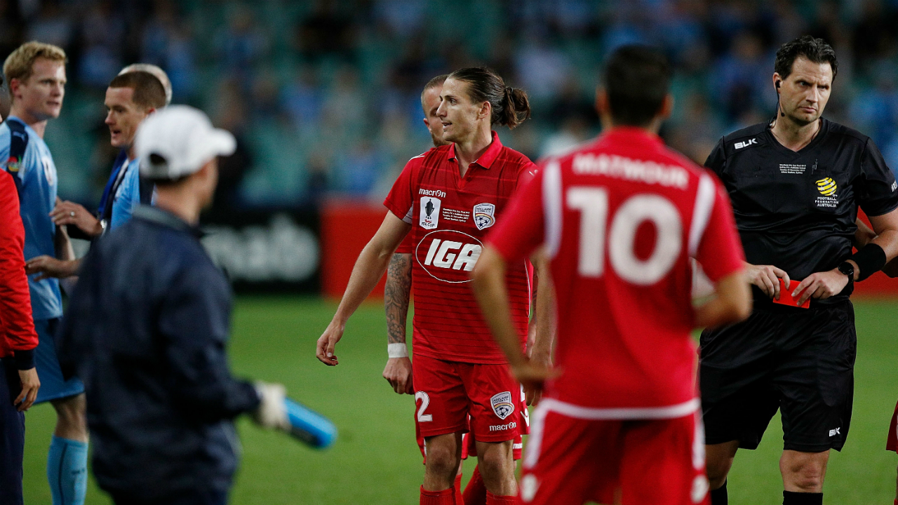Adelaide United's Marrone could face discipline after FFA Cup ball boy push