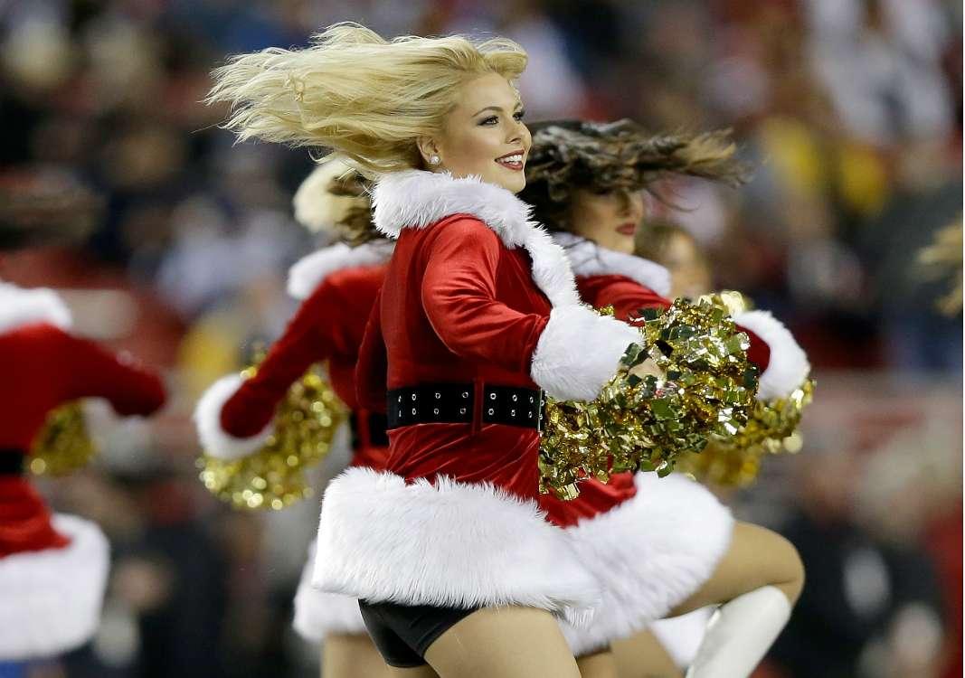 Nfl Christmas Cheer Leaders Rams On Demand